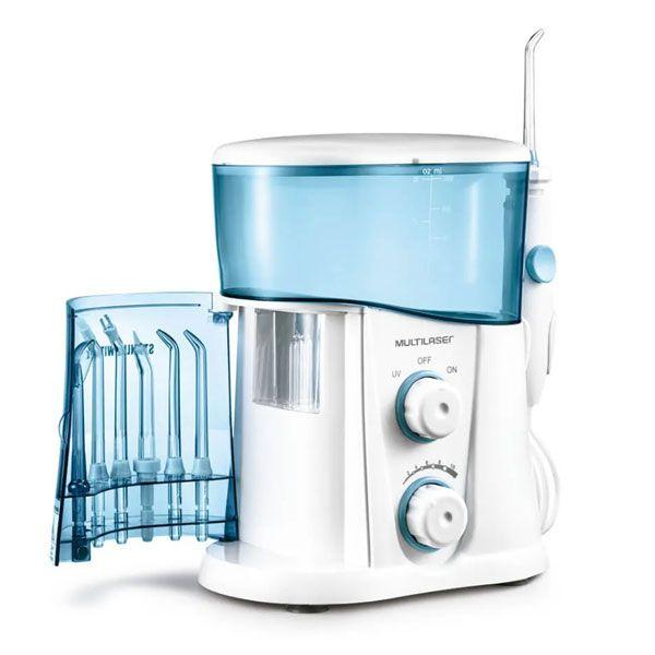 Irrigador Oral Profissional Reservatório 1L 7 Bicos Bivolt Luz UV  Clearp Multilaser