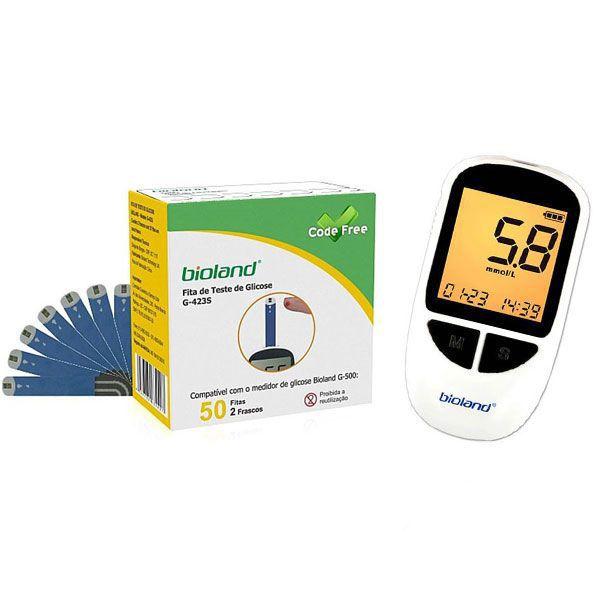 Kit Com 01 Cx. Fita Para Medir Glicose e 01 Medidor Glicose