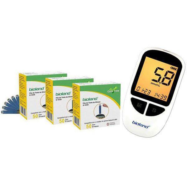 Kit Com 03 Cx. Fita Para medir Glicose e 01 Medidor Glicose