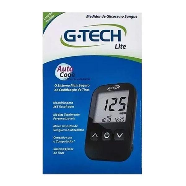 Kit Completo Medidor de Glicose no Sangue e Tiras G-TECH FREE LITE
