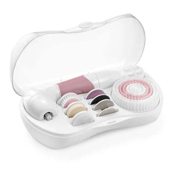 Kit Spa Corporal 9 em 1 Beauty Rosa e Branco Multilaser