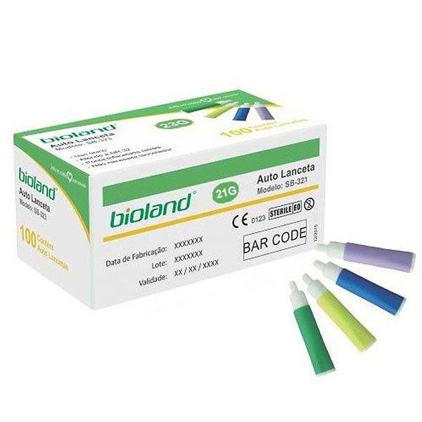 Lanceta Auto Retratil Calibra 21g Sb321 Bioland (cx. 100un.)