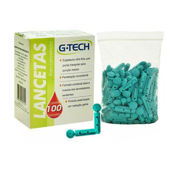 Lanceta Para Lancetador G-TECH 28 G Caixa com 100 Unds.