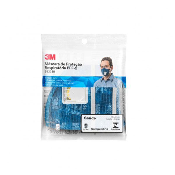 Máscara Descartável de Proteção Respiratória PFF-2 Com Válvula 3M