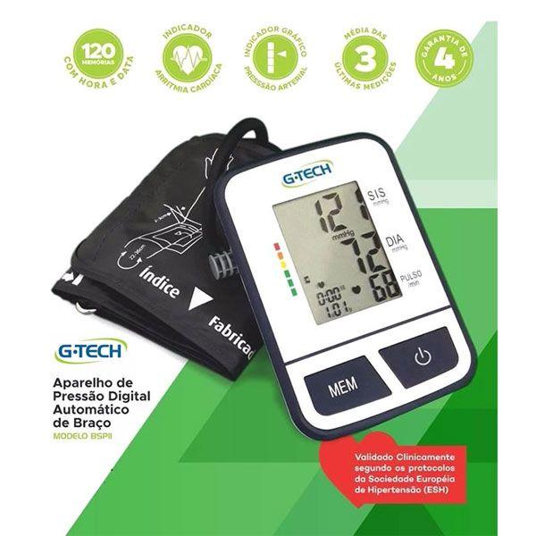 Aparelho Medidor de Pressão Digital Automático de Braço BSP11 G-TECH