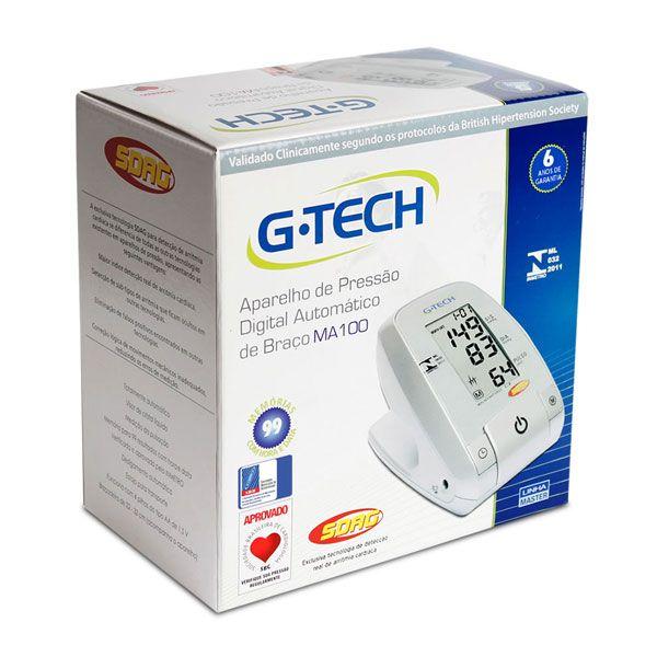 Aparelho Medidor de Pressão Digital Automático de Braço MA100 G-TECH Garantia 5 Anos
