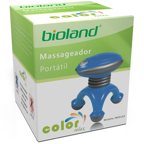 Mini Massageador Portatil Color Relax Azul M601AZ Bioland