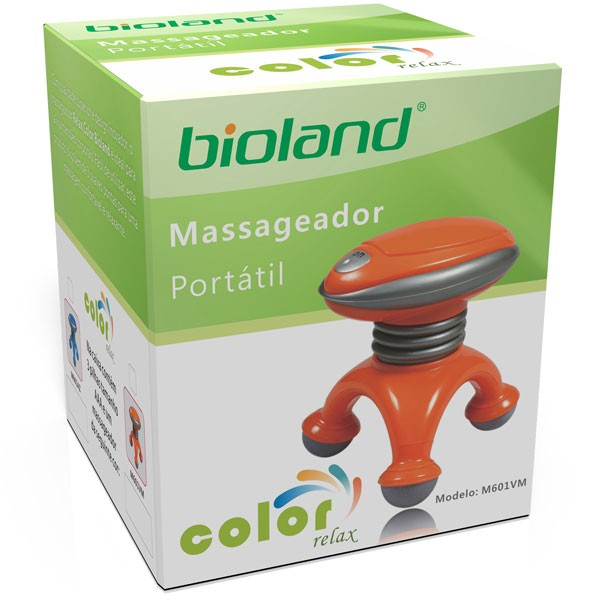 Mini Massageador Portátil Color Relax Laranja M601VM Bioland