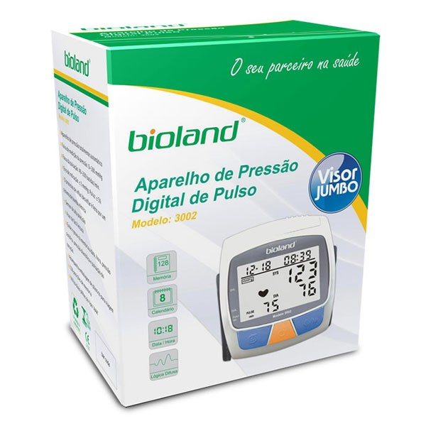 Aparelho Medidor de Pressão Digital Automático de Pulso 3002 Bioland
