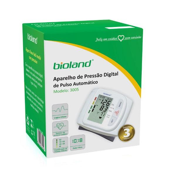 Aparelho Medidor de Pressão Digital Automático de Pulso 3005 Bioland Garantia 3 Anos