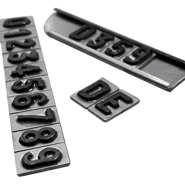 Números Radiológico de Chumbo 5 Séries de 0-9 + 2 Letras D, E 10mm EMB