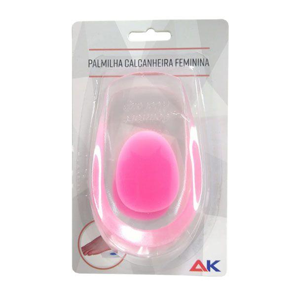 Palmilha Anatômica de Silicone Calcanheira Feminina Pink A.K