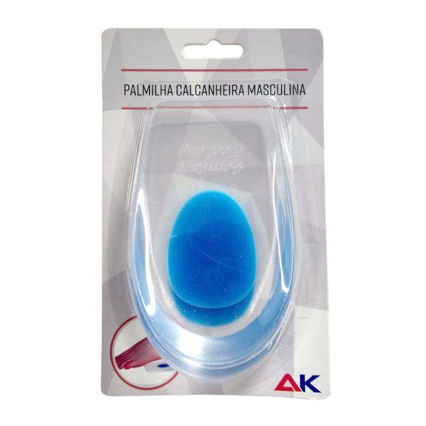 Palmilha Anatômica de Silicone Calcanheira Masculina Azul A.K