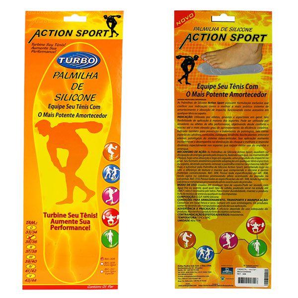 Palmilha de Silicone Action Sport Par Ortho Pauher