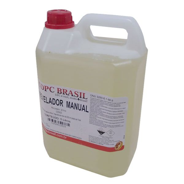Revelador Manual Para Radiografia 20 Litros DPC Brasil