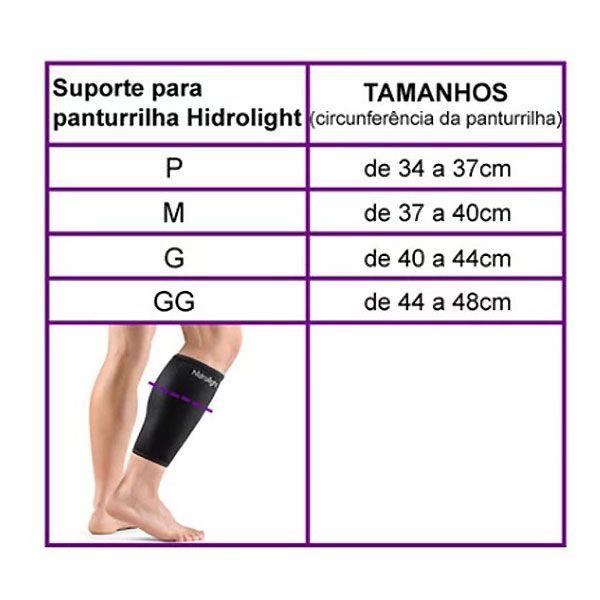 Suporte Ortopédico de Compressão para Panturrilha Par Hidrolight