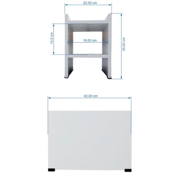 Suporte Para CPU Computador e Estabilizador Consultório Zapmédica