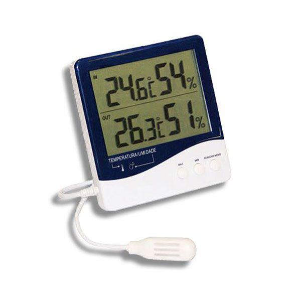 Termo-Higrômetro Digital Temperatura Interna, Externa e Umidade Interna 7664 Incoterm