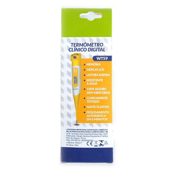 Termômetro Clínico Digital Flexível Ursinho WT-59 Wiso
