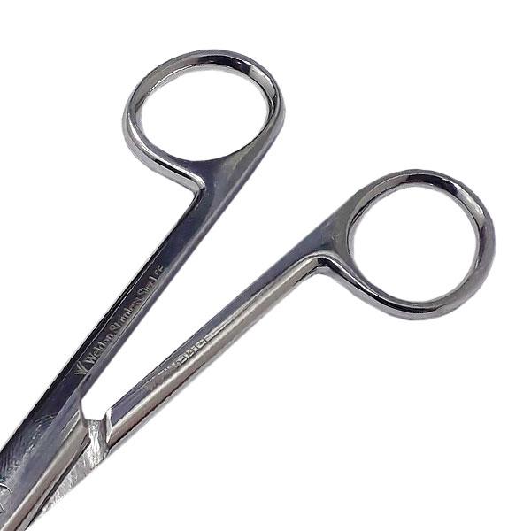Tesoura Hospitalar Cirúrgica Curva  15cm Fina/fina Weldon