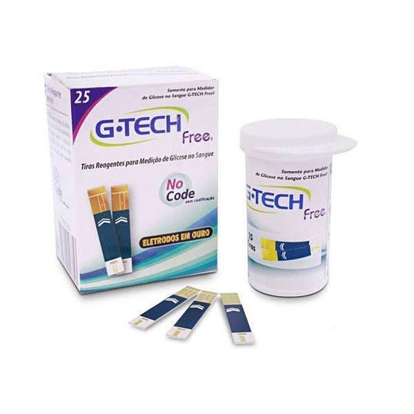 Tiras Reagentes G-TECH FREE Frasco Com 25 Tiras