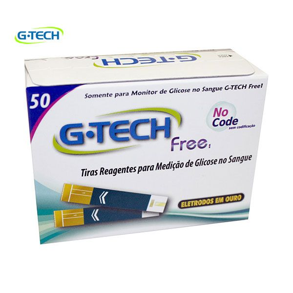 Tiras Reagentes G-TECH FREE Frasco Com 50 Tiras