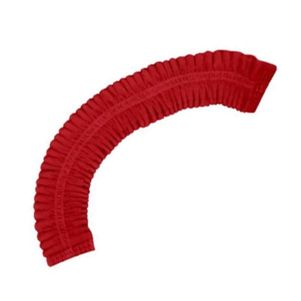 Touca Descartável Sanfonada Vermelha Gramatura Média Pacote Com 100 Unidades Dejamaro