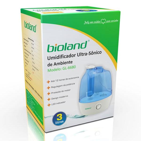 Umidificador Ultrassônico de Ambiente 3 Litros Bioland Garantia