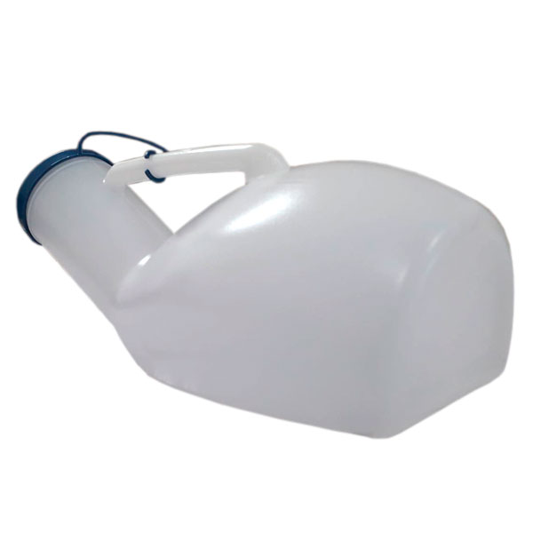 Urinol Papagaio Plástico Coletor Urina Masculino 1.000ml Com Tampa Cellpus