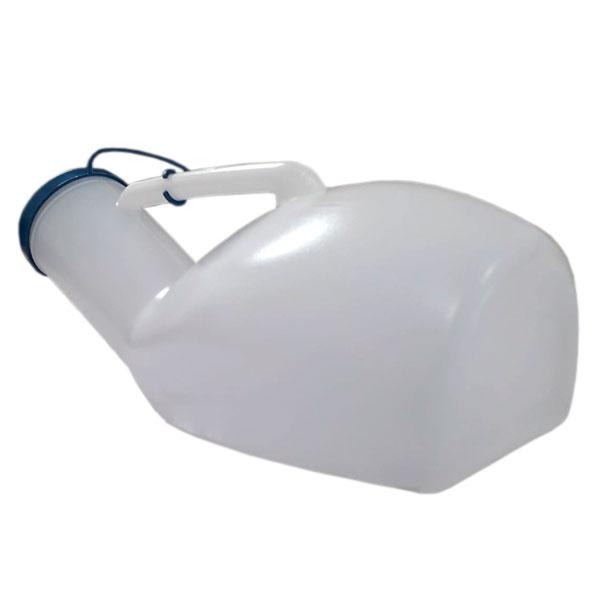 Urinol Papagaio Plástico Coletor Urina Masculino 1.400ml Com Tampa Cellpus