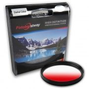 Filtro para Câmera Gradual Vermelho - Fotobestway 58mm