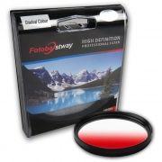 Filtro para Câmera Gradual Vermelho - Fotobestway 77mm
