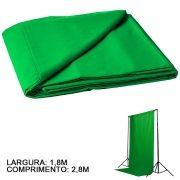Fundo Fotografico de Tecido - Muslin Verde Chroma - 1,8x2,8m