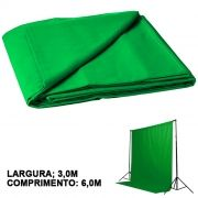 Fundo Fotográfico de Tecido - Muslin Verde Chroma - 6,0x3,0m