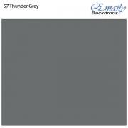 Fundo Infinito Fotográfico de Papel Rolo Cinza Thunder Grey 2,70m x 10m