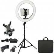 Iluminador Ring Light Led com Tripé - 48cm 80W - DSLR Tablet Celular
