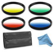 Kit Filtro para Câmera DSLR Gradual Colour - Fotobestway 77mm