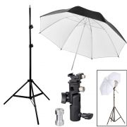Kit Flash Speedlight - Tripe  Sombrinha Branca Suporte Ls24