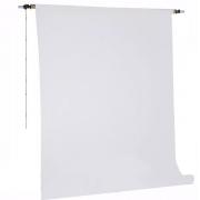 Kit Fundo Infinito Fotográfico de Papel Super Branco 10,0x2,40m com Suporte Fixo