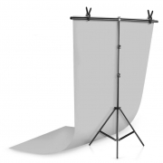 Kit Fundo Infinito Fotografico Backdrop de PVC com Suporte - Cinza - 100x200 cm