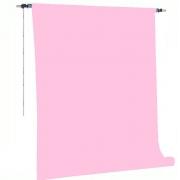 Kit Fundo Infinito Fotográfico de Papel Baby Pink 2,70x11m com Suporte Fixo