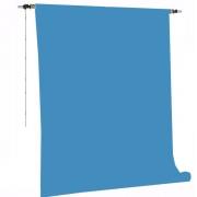 Kit Fundo Infinito Fotográfico de Papel Light Blue 2,70x11m com Suporte Fixo