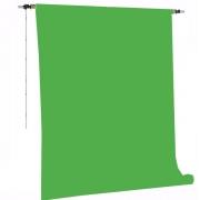 Kit Fundo Infinito Fotográfico de Papel Verde Chroma Key 2,70x11m com Suporte Fixo