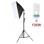 Kit Iluminação Estúdio - Softbox Light 40x60 135W - SA4060