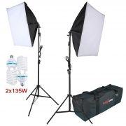 Kit Iluminação Estúdio - Softbox Light 40x60 2x135W - SL4060