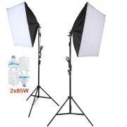 Kit Iluminação Estúdio - Softbox Light 40x60 2x85W - SL4060