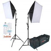 Kit Iluminação Estúdio - Softbox Light 40x60 2x85W - SL4060BAG