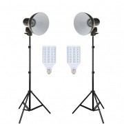 Kit Iluminador Foto e Vídeo Refletor FV414 2x28W com Tripé 2m