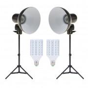 Kit Iluminador Foto e Vídeo Refletor FV414 2x 28W com Tripé 75cm