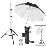 Kit Flash Speedlight - Tripe Sombrinha Dif Rebat Suporte 1033C
